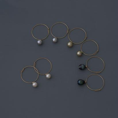 【earrings】circle baroque pearl