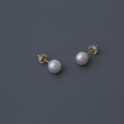 【earrings】18K akoya White pearl