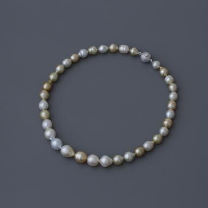 【necklace】mix goldlip baroque pearl