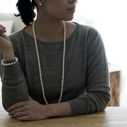 【special/necklace】Special price akoya white  pearl(85cm)