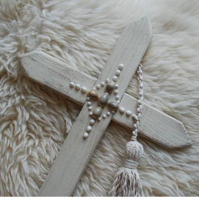 ボヘミアン タッセル クロス Lサイズ