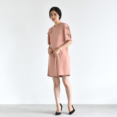 【OUTLET SALE】001240 / 袖リボン ショートオールインワン