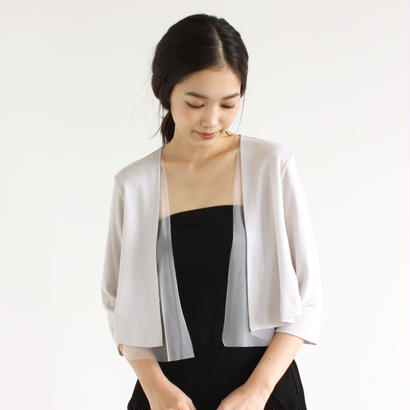 【OUTLET SALE】005229 / チュール重ね ラメカーディガン