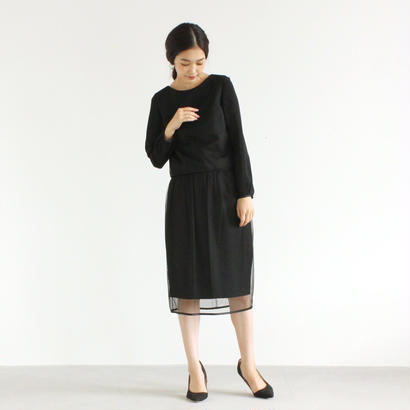 【OUTLET SALE】002064 / チュール重ね セットアップ