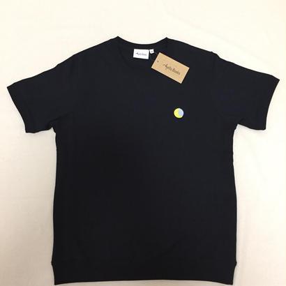 「月と6ペンス」スウェット風 刺繍Tシャツ
