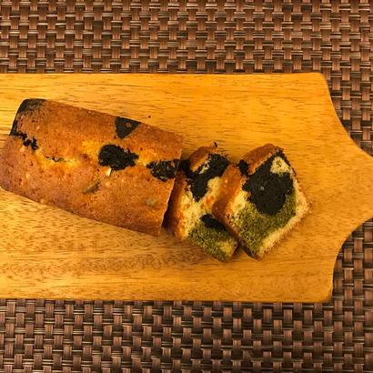 茶葉炭とキャラメルのパウンドケーキ