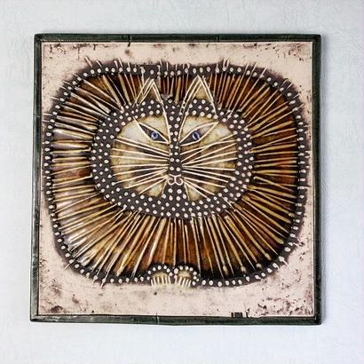UNIK  Kat  ユニークシリーズ  丸猫の陶板