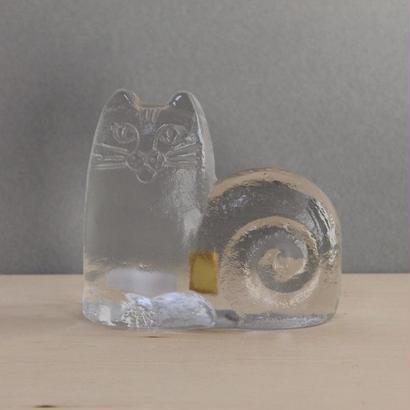 ロイヤルクローナ /  クリスタルガラス / ネコ・猫 / リサラーソン ヴィンテージ