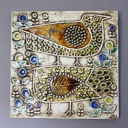 UNIK  Fagler  ユニークシリーズ  2羽の鳥の陶板