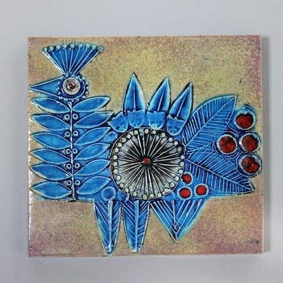 Vaggplattor  青い鳥の陶板