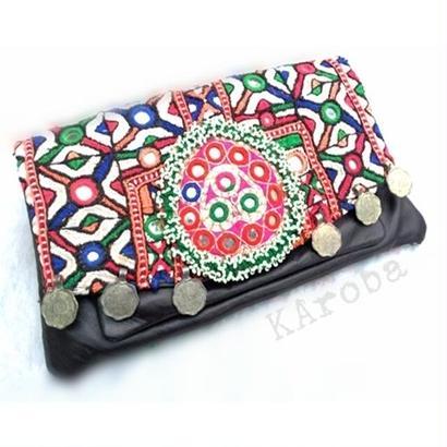 Banjaraクラッチバッグ ≪el2≫ 刺繍&レザー