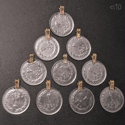 コインパーツ 10P《cl10》シルバーカラー Kuchi パキスタン