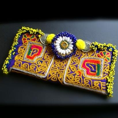 【SALE10%OFF】世界に1つ Banjara ポーチ《ep4a》刺繍&ビーズ