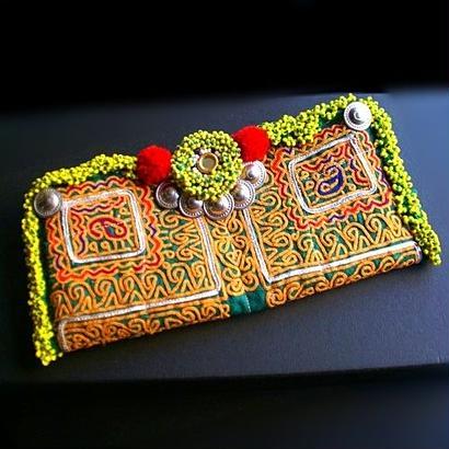 世界に一つ Banjara ポーチ《ep5a》刺繍&ビーズ
