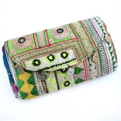 Banjara 2wayクラッチバッグ 1点物《bjc16》zariミラーワーク刺繍ヴィンテージテキスタイル
