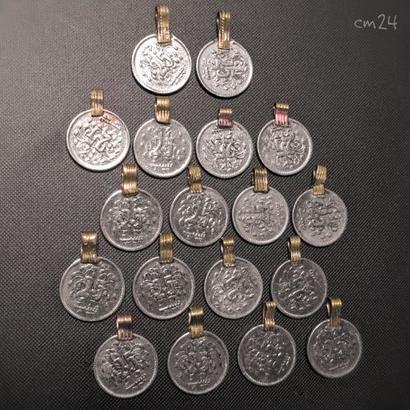 コインパーツ 18P 《cm24》シルバーカラー Kuchi パキスタン