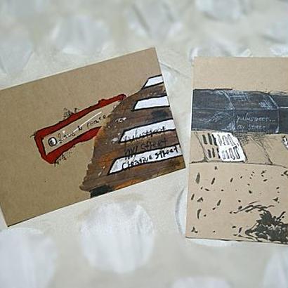 送料込 yulustreet ポストカード 2枚セット《B》