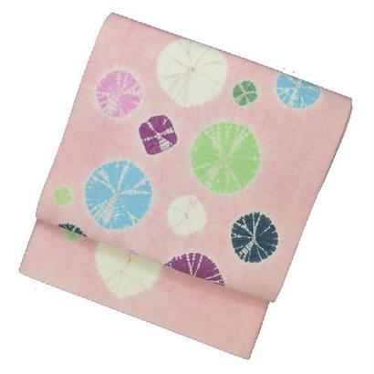 絞りの京袋帯さくらピンク