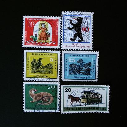 ドイツのおじいさんが収集していた古切手 (2) DDR動物セット