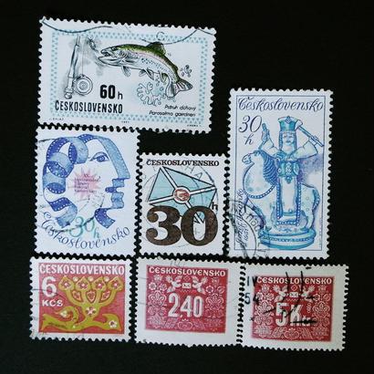 ドイツのおじいさんが収集していた古切手 (1) チェコスロバキアかわいいセット