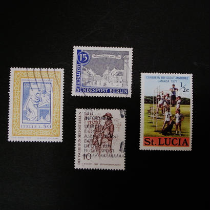 ドイツのおじいさんが収集していた古切手(9) 隠れ動物セット