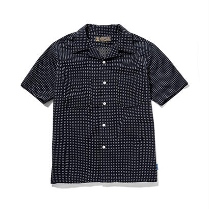 S/S DOT OPEN COLLAR SHIRT