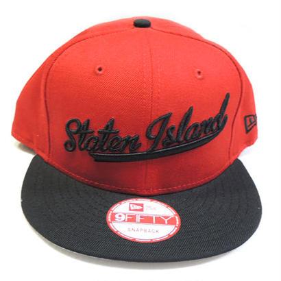 NEW ERA STATEN ISLAND SCRIPT SNAPBACK CAP RED