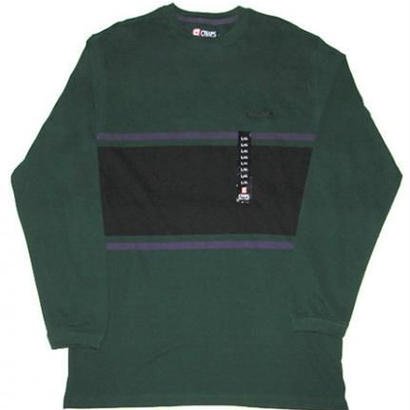 RALPH LAUREN BY CHAPS L/S BORDER C&S