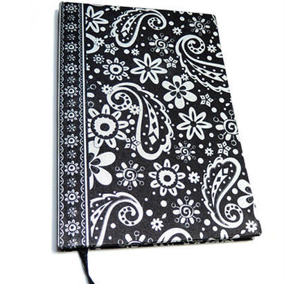 PAISLEY NOTEBOOK BLACK