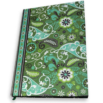 PAISLEY NOTEBOOK GREEN
