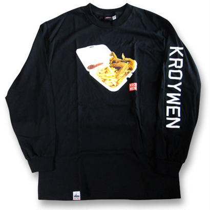 KROYWEN CLOTHING 4WINGS & FRIES L/S T-SHIRT BLK