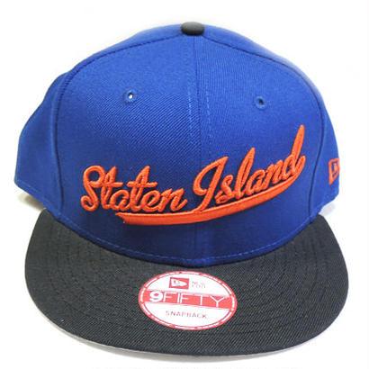 NEW ERA STATEN ISLAND SCRIPT SNAPBACK CAP BLUE