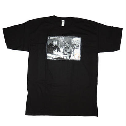 BLEU & CREAM COFFEE & CIGARETTES T-SHIRT BLK