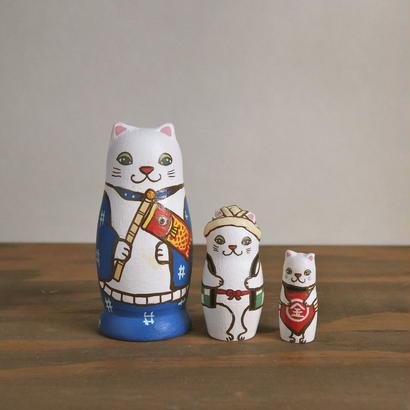 MATRYOSHKA 3sets 端午の節句猫  Boys Festival cat