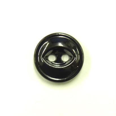 ビンテージソーオンボタン371(10個セット)つやブラック キャスト