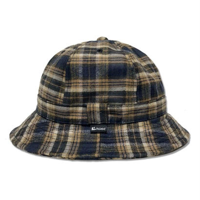Skate Bell Hat    <Navy & Yellow Plaid>
