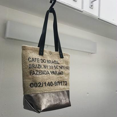 ラスト一点  コーヒー豆袋 リメイク トートバッグ