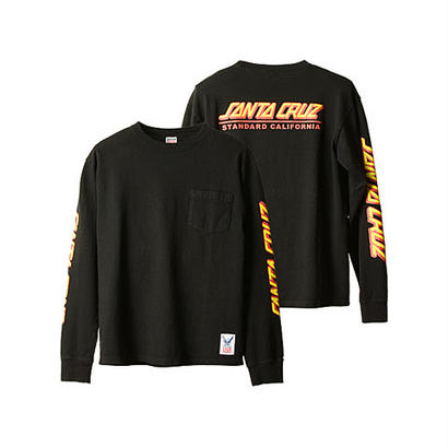SANTA CRUZ × SD USA Heavyweight Pocket Long Sleeve T