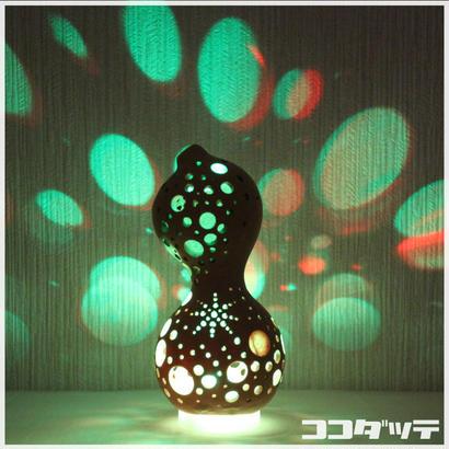 ひょうたんライト006【星空/透かし彫り】