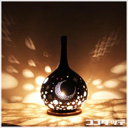 ひょうたんランプ033【月星/ブラック】