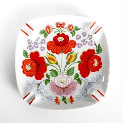 HOLLOHAZA [ホロハーザ] 社 カロチャ柄  灰皿