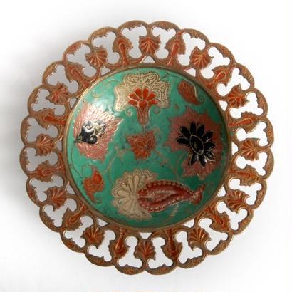 インド製 絵皿/緑