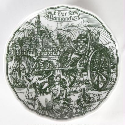 HUTSCHEN REUTHER [フッチェンロイター] 社「ワインの商人」飾り皿