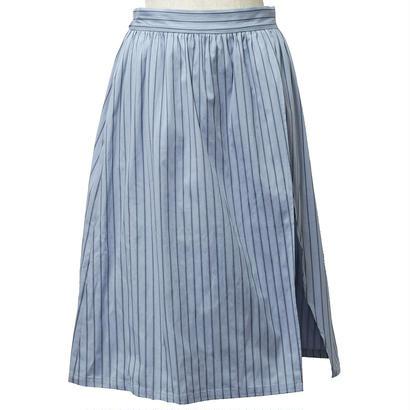 ストライプスカート風ショートパンツ(ブルー)