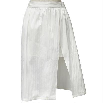 ストライプスカート風ショートパンツ(ホワイト)