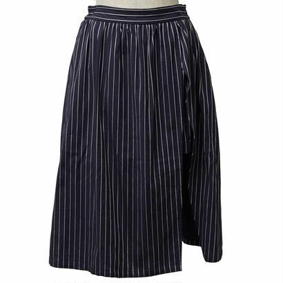 ストライプスカート風ショートパンツ(ネイビー)