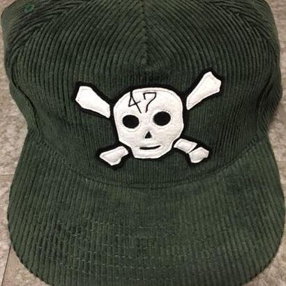 BLUCO x HMC 30'S SKULL CORDUROY CAP GRN