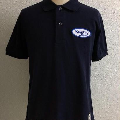 Krafty Cotton Logo Polo NVY
