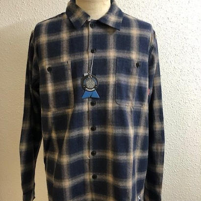 BLUCO OMBRE CHECK SHIRTS NVY