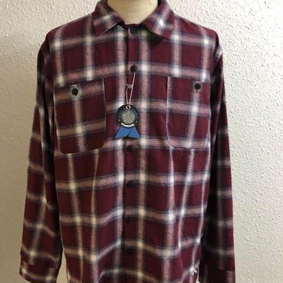 BLUCO OMBRE CHECK SHIRTS RED